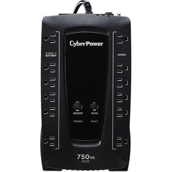 CyberPower AVR Series AVRG750U 750VA 450W Desktop UPS with AVR and USB