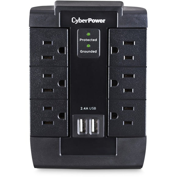 CyberPower CSP600WSU Professional 6 Swivel Outlets Surge with