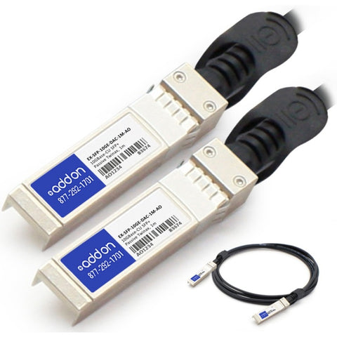 AddOn Juniper Networks EX-SFP-10GE-DAC-1M Compatible TAA Compliant 10GBase-CU SFP+ to SFP+ Direct Attach Cable (Passive Twinax, 1m)