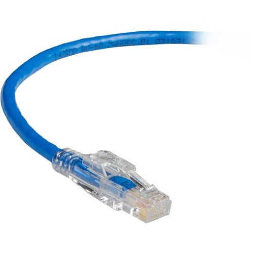 Black Box GigaBase 3 CAT5e 350-MHz Lockable Patch Cable (UTP), Blue, 7-ft. (2.1-m)