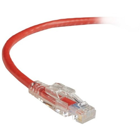 Black Box GigaBase 3 CAT5e 350-MHz Lockable Patch Cable (UTP), Red, 2-ft. (0.6-m)