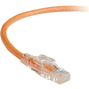Black Box GigaTrue 3 CAT6 550-MHz Lockable Patch Cable (UTP) - Orange, 7-ft. (2.1-m)