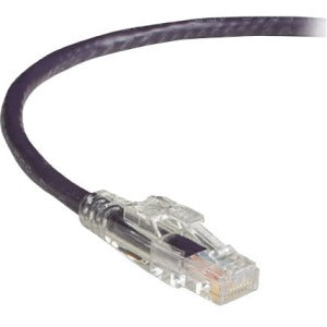 Black Box GigaTrue 3 CAT6 550-MHz Lockable Patch Cable (UTP) - Violet, 4-ft. (1.2-m)