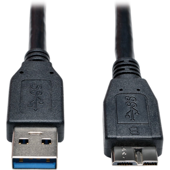 Tripp Lite 3ft USB 3.0 SuperSpeed Device Cable USB-A Male to USB Micro-B Male Black
