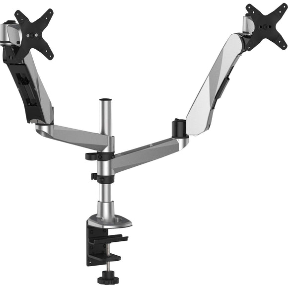 3m Mobile Interactive Solution Monitor Arm Dual Desk Mount Silver