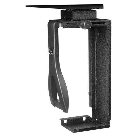3m Mobile Interactive Solution Under Desk Cpu Holder With Swivel, Black