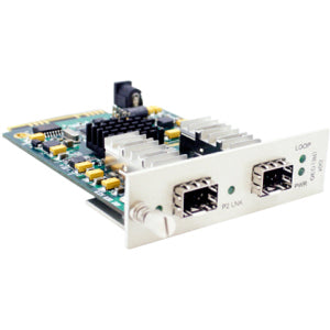 AddOn 10G OEO Converter (3R Repeater) with 2 Open SFP+ Slots Media Converter Card for our rack or Standalone Systems