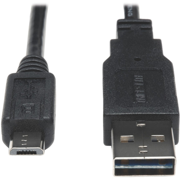Tripp Lite 6ft USB 2.0 High Speed Cable 28-24AWG Reversible A to 5Pin Micro B M-M