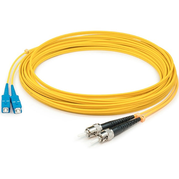 AddOn 1m SC (Male) to ST (Male) Yellow OS1 Duplex Fiber OFNR (Riser-Rated) Patch Cable