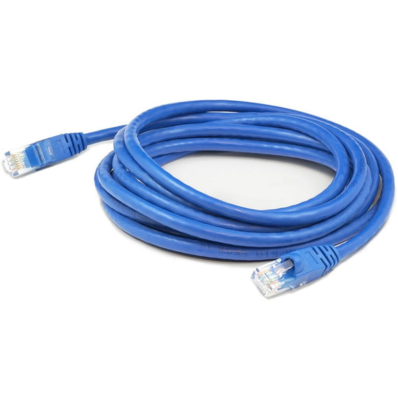 Add-on Addon 10 Pack Of 15ft Blue Molded Snagless Cat6a Patch Cable