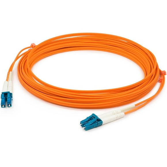 AddOn 6m LC (Male) to LC (Male) Orange OM1 Duplex Fiber OFNR (Riser-Rated) Patch Cable