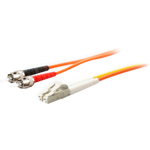 AddOn 1m LC (Male) to ST (Male) Orange OM1 & OS1 Duplex Fiber Mode Conditioning Cable