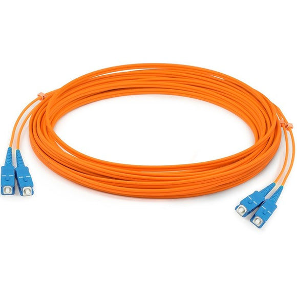 AddOn 15m SC (Male) to SC (Male) Orange OM1 Duplex Fiber OFNR (Riser-Rated) Patch Cable
