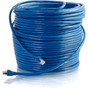 C2G 35ft Cat6 Snagless Solid Shielded Network Patch Cable - Blue