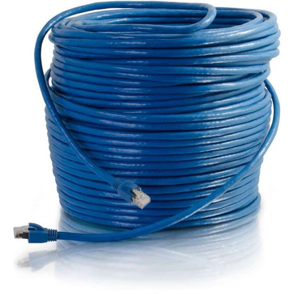 C2G 50ft Cat6 Snagless Solid Shielded Network Patch Cable - Blue