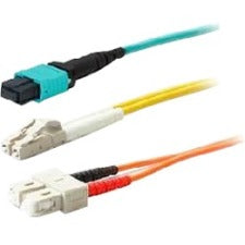 AddOn 15m LC (Male) to ST (Male) Aqua OM3 Duplex Fiber OFNR (Riser-Rated) Patch Cable