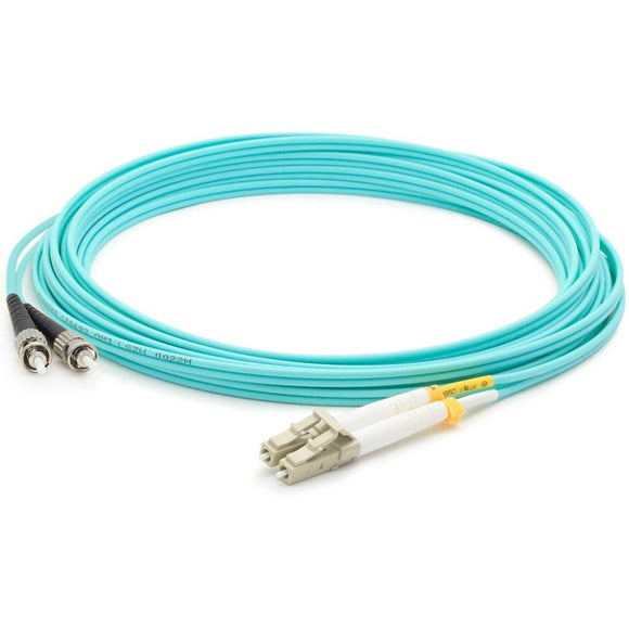 AddOn 2m LC (Male) to ST (Male) Aqua OM3 Duplex Fiber OFNR (Riser-Rated) Patch Cable