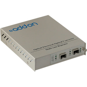 AddOn 10G OEO Converter (3R Repeater) with 2 Open SFP+ Slots Standalone Media Converter Card Kit