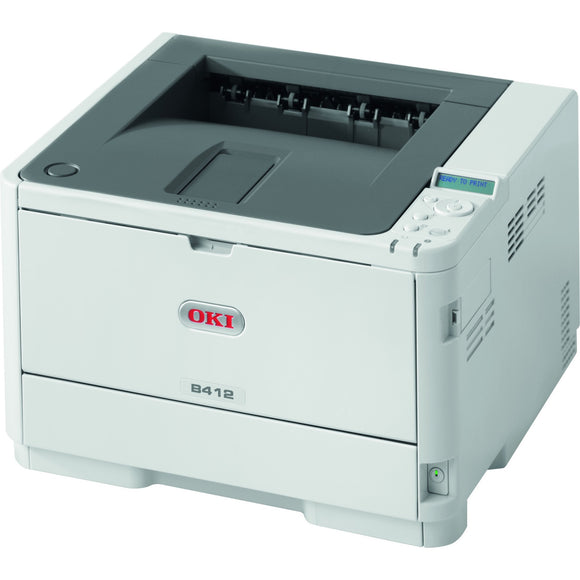 Oki B412dn LED Printer - Monochrome - 1200 x 1200 dpi Print - Plain Paper Print - Desktop