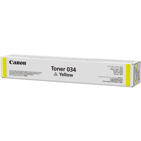Canon 034 Original Toner Cartridge - Yellow