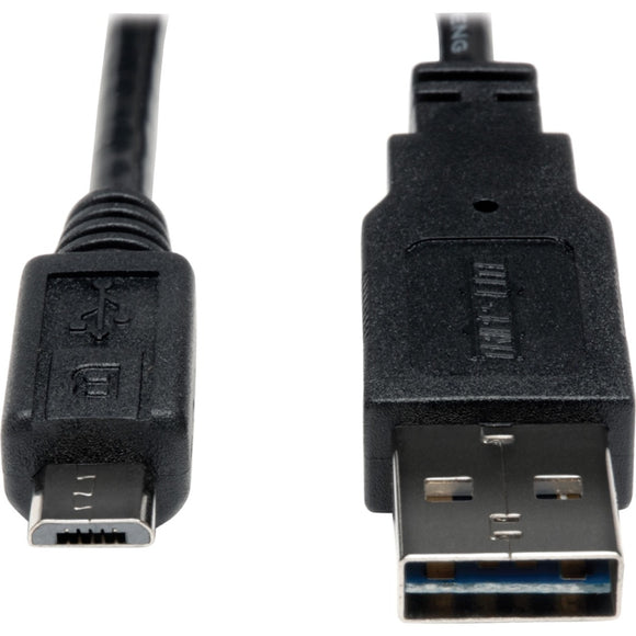 Tripp Lite 1ft USB 2.0 High Speed Cable 28-24AWG Reversible A to 5Pin Micro B M-M