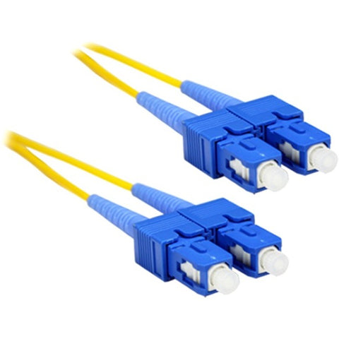 ENET 1M SC-SC Duplex Single-mode 9-125 OS1 or Better Yellow Fiber Patch Cable 1 meter SC-SC Individually Tested