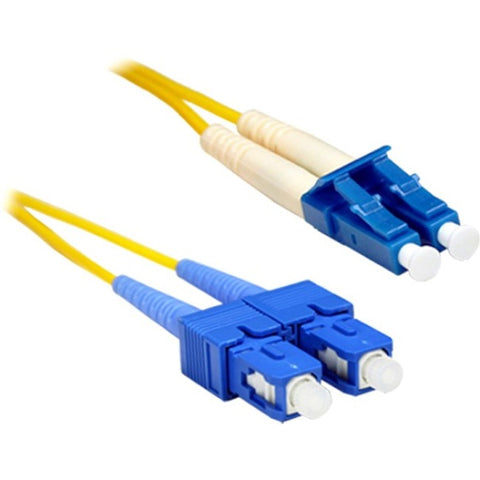 ENET 10M SC-LC Duplex Single-mode 9-125 OS1 or Better Yellow Fiber Patch Cable 10 meter SC-LC Individually Tested