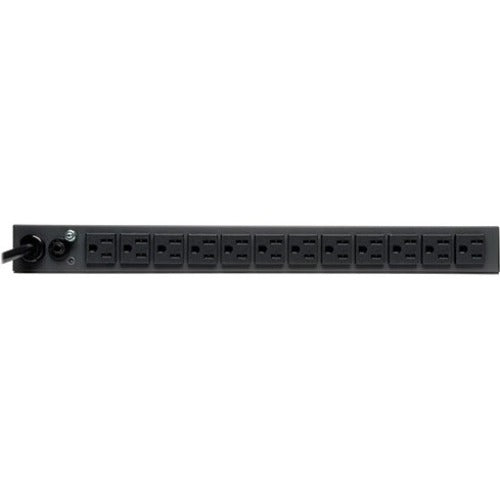 Tripp Lite PDU Metered 120V 15A 5-15R 13 Outlet 5-15P Horizontal 1URM 6ft Cord