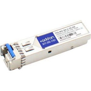 AddOn TAA Compliant 1000Base-BX SFP Transceiver (SMF, 1310nmTx-1490nmRx, 20km, LC, DOM)