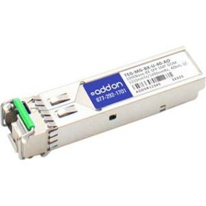AddOn TAA Compliant 1000Base-BX SFP Transceiver (SMF, 1310nmTx-1490nmRx, 40km, LC, DOM)