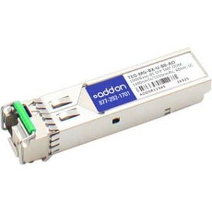AddOn TAA Compliant 1000Base-BX SFP Transceiver (SMF, 1490nmTx-1550nmRx, 80km, LC, DOM)