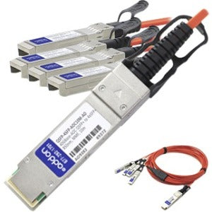AddOn MSA and TAA Compliant 40GBase-AOC QSFP+ to 4xSFP+ Direct Attach Cable (850nm, MMF, 10m)