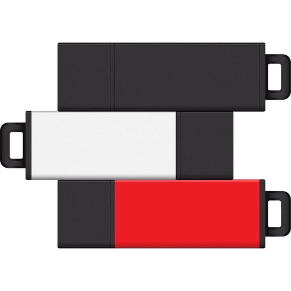 Centon 8GB USB 2.0 Pro2 3Pk (Black, White, Red)