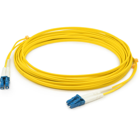 AddOn 20m LC (Male) to LC (Male) Yellow OS1 Duplex Fiber OFNR (Riser-Rated) Patch Cable