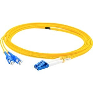 AddOn 30m LC (Male) to SC (Male) Yellow OS1 Duplex Fiber OFNR (Riser-Rated) Patch Cable