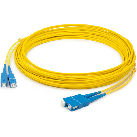 AddOn 25m SC (Male) to SC (Male) Yellow OS1 Duplex Fiber OFNR (Riser-Rated) Patch Cable