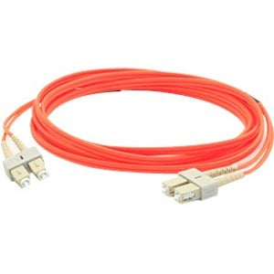 AddOn 4m SC (Male) to SC (Male) Orange OM1 Duplex Fiber OFNR (Riser-Rated) Patch Cable