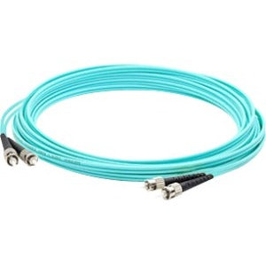 AddOn 2m ST (Male) to ST (Male) Aqua OM4 Duplex Fiber OFNR (Riser-Rated) Patch Cable