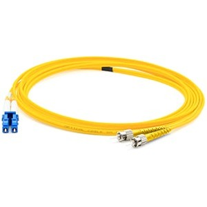 AddOn 3m FC (Male) to LC (Male) Yellow OS1 Duplex Fiber OFNR (Riser-Rated) Patch Cable