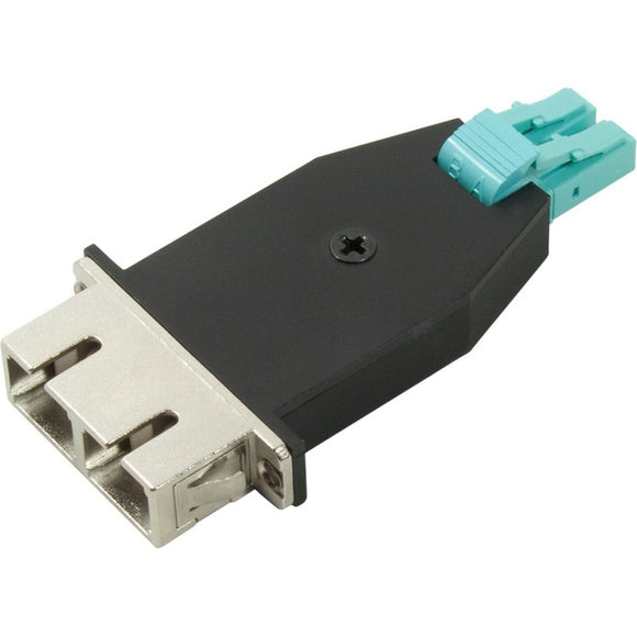 AddOn LC Male to SC Female MMF Duplex OM3 Fiber Optic Adapter
