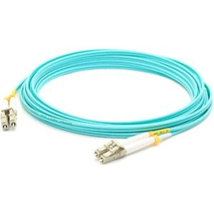 AddOn 10m IBM 45W2282 Compatible LC (Male) to LC (Male) Aqua OM3 Duplex Fiber OFNR (Riser-Rated) Patch Cable