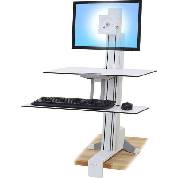 Ergotron WorkFit-S, Single LD with Worksurface+ (White)