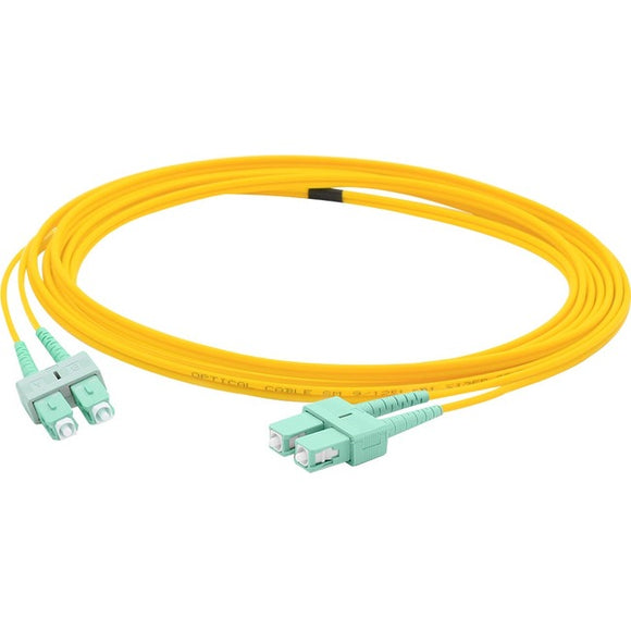 AddOn 5m ASC (Male) to ASC (Male) Yellow OS1 Duplex Fiber OFNR (Riser-Rated) Patch Cable