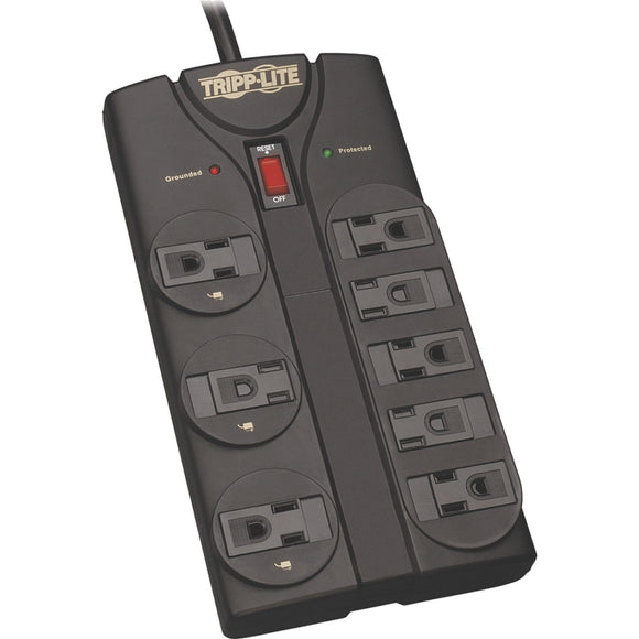 Tripp Lite Surge Protector Power Strip 8 Outlet 8 ' Cord Black 1440 J