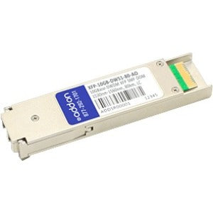 AddOn MSA and TAA Compliant 10GBase-DWDM 100GHz XFP Transceiver (SMF, 1536.61nm, 80km, LC, DOM)