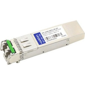AddOn MSA and TAA Compliant 10GBase-DWDM 100GHz SFP+ Transceiver (SMF, 1536.61nm, 80km, LC, DOM)
