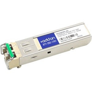 AddOn Ciena NTK585BG Compatible TAA Compliant 1000Base-DWDM 100GHz SFP Transceiver (SMF, 1540.56nm, 80km, LC, DOM)