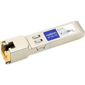 AddOn HP J8177B Compatible TAA Compliant 10-100-1000Base-TX SFP Transceiver (Copper, 100m, RJ-45)