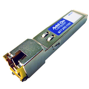 AddOn HP J8177C Compatible TAA Compliant 10-100-1000Base-TX SFP Transceiver (Copper, 100m, RJ-45)