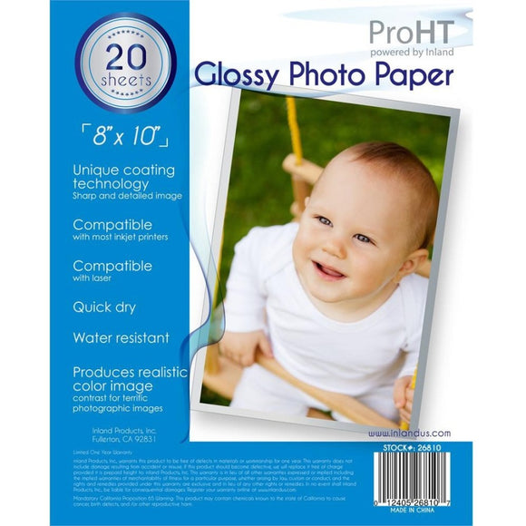 ProHT Inkjet, Laser Print Photo Paper